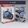 Kawasaki zx-6r motocicleta modelo kits de construção 1/12 brinquedo de presente modelo de montagem da motocicleta motocicleta motocicleta crianças brinquedos crianças brinquedos
