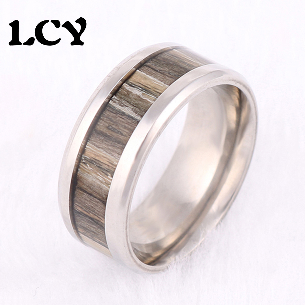 2016 Brand New Fashion 8mm Tungsten Ring With Simulated Wood Grain Rings For Men Party Men Jewelry Men's Wedding Rings LCY-123