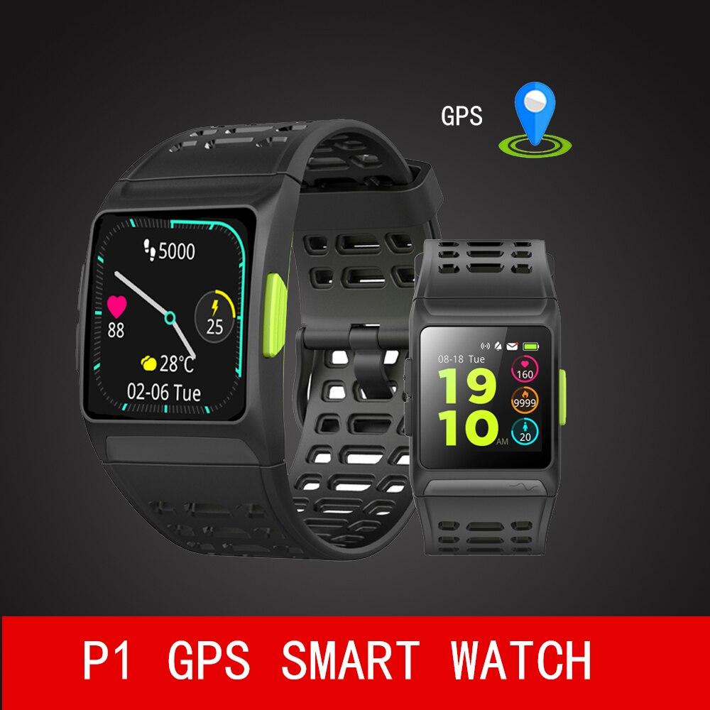 все цены на P1 dynamic heart rate ECG detection HRV analysis built-in GPS IPS color screen Multiple sports modes Smart Watch онлайн