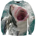 2017 Women/Men Creative Clothes Sea Animal Shark Print Hoodies Sport Sweatshirt Casual Pullover Brand Design Clothing Tops