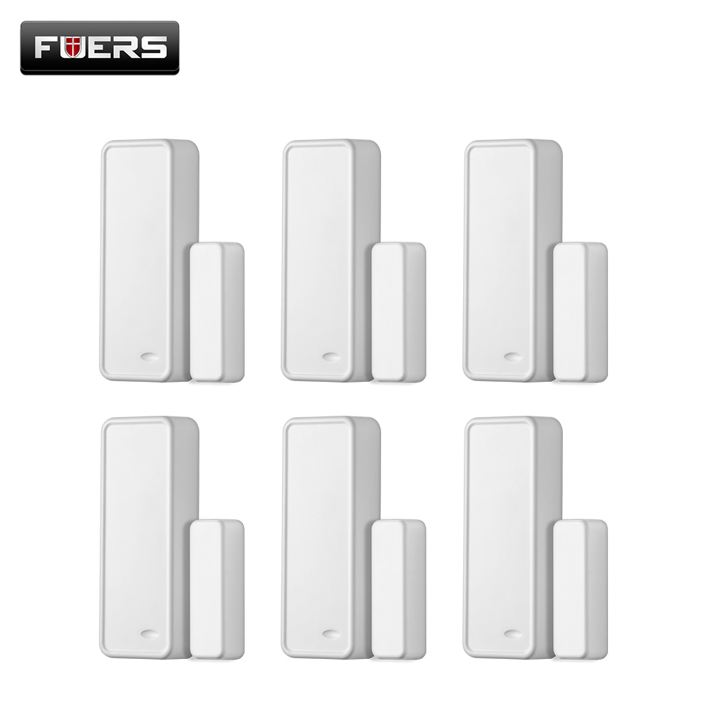 Fuers 6pcs 433MHZ Wireless Alarm Sensors Accessories with DC12V 23A battery For G90B PLUS WiFi GSM Home Alarm System Door Sensor forecum 433mhz wireless magnetic door window sensor alarm detector for rolling door and roller shutter home burglar alarm system