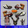 FREE SHIPPING MOTORCYCLE 3M GRAPHICS  ROCKSTAR BACKGROUND DECALS STICKERS KITS FOR KTM SX 125 250 450 525 03-04  DIRT BIKE