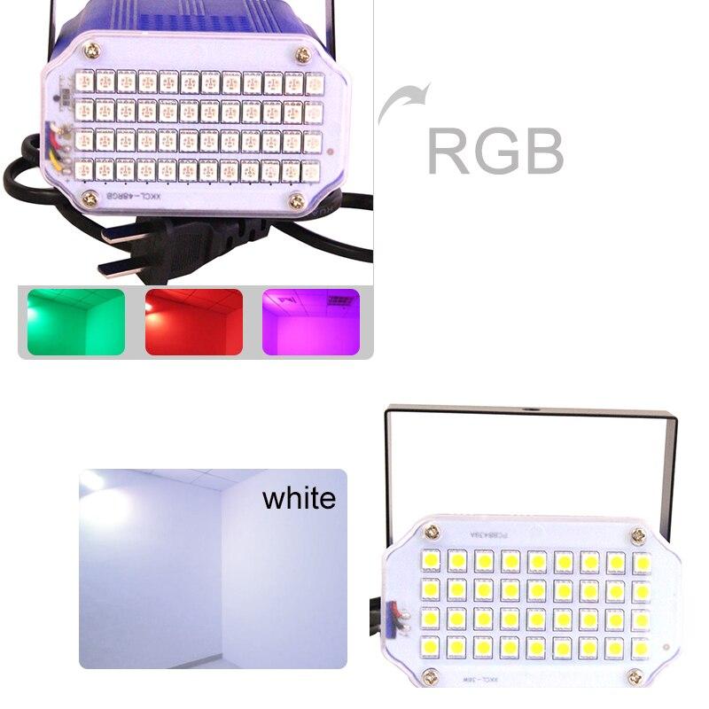 Mini 36 LED Bühnenbeleuchtung Strobe Effekt DJ Disco Licht Sound - Kommerzielle Beleuchtung - Foto 6