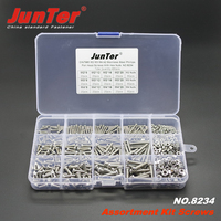 480pcs M2 M3 M4 A2 Stainless Steel Phillips Pan Head Machine Screws With Hex Nuts Assortment