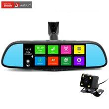 """Junsun 7 """"сенсорный Специальный Автомобильный ВИДЕОРЕГИСТРАТОР Зеркало Камеры GPS Bluetooth 16 ГБ Android 4.4 Dual Объектив FHD 1080 P Видеорегистратор Даш Cam(China (Mainland))"""