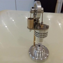 Sterling engine, miniature vertical engine model scientific experiment, birthday gift