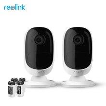 Reolink Drahtlose WiFi Batterie Ip-kamera 2MP Outdoor Full HD Draht-Freies Wetterfest Indoor Überwachungskamera Argus-2 (2 cam pack)