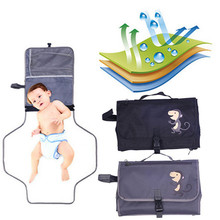 Waterproof Portable Baby Diaper Changing Mat Nappy Changing Pad Travel Changing Station Clutch Baby Care Products Hangs Stroller
