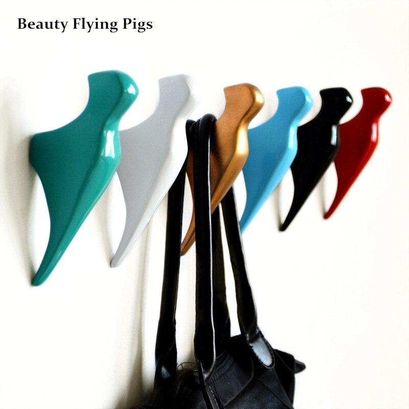 Gancho creativo Diseño de ave Abrigo de resina Colgando ropa Gancho - Organización y almacenamiento en la casa