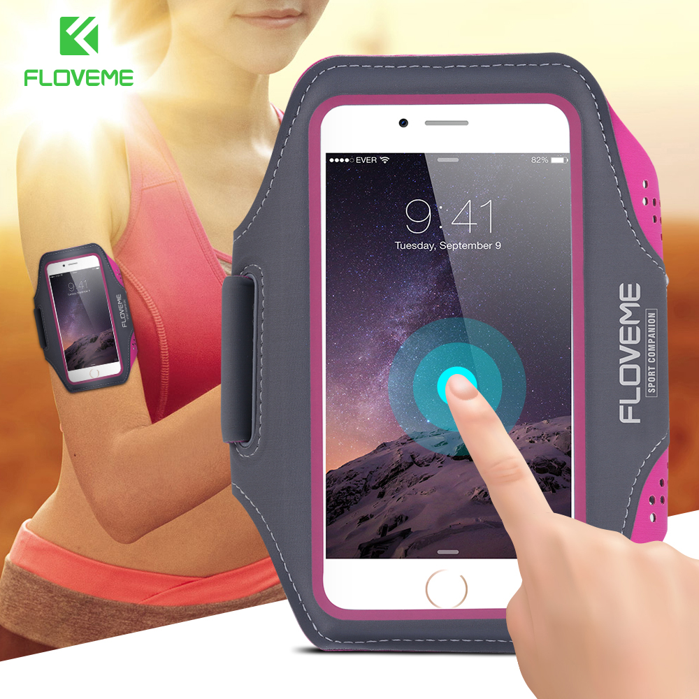 FLOVEME Original 5.5 inch Universal Sport Arm Band Case Cover For iPhone 6 6S 6 Plus 6s Plus 5S 5 5C For HTC M7 M8 M9 For LG G4