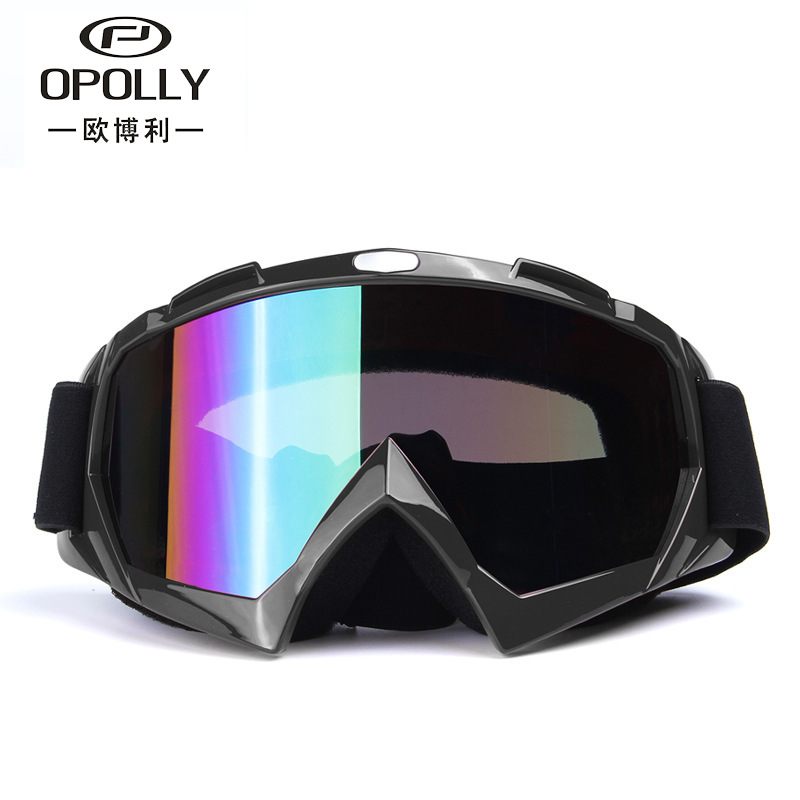 New Outdoor Dazzling Men And Women Motorcycle Off-road Windproof Sand Goggles Ski Glasses Cross-country Goggles Cleaning The Oral Cavity. Sports & Entertainment