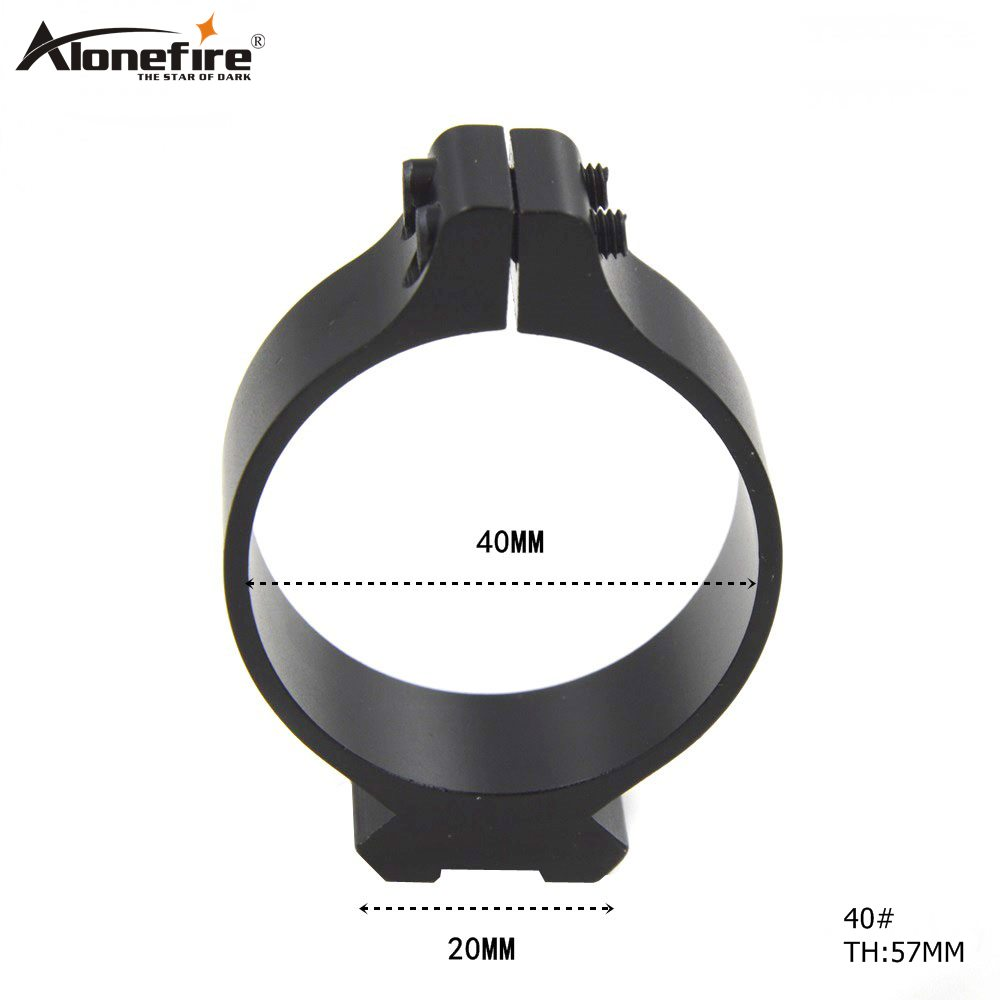 40mm Tactical Barrel Ring 20mm Scope Bases Sighting Telescope Clamp Mount Hunting Gun Flashlight Torch Laser Sight Holder
