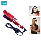 Flat iron hair straightener steampod Hair styling tools kemei vapor straightner ceramic heating plate portable steam styler 5