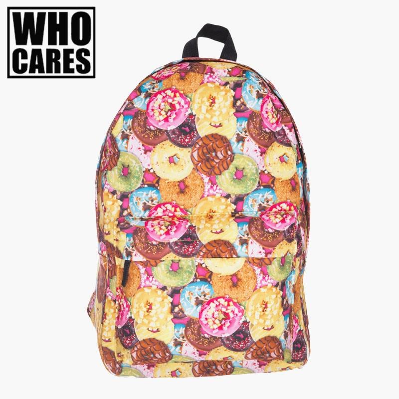 Backpack women Cookie pattern For School Student backpack men 2016 mochila feminina mochilas five nights at freddys backpacks