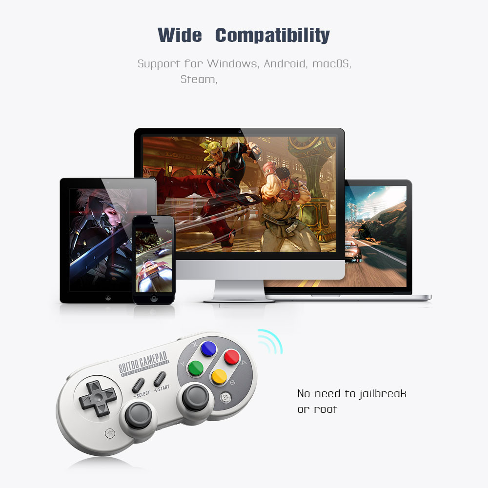 US $18 99 |8Bitdo SF30 Pro Gamepad Controller Joystick Wireless Bluetooth  Game Controller for Switch Windows macOS Android GamPad-in Gamepads from