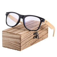Lumière bleue - Bambou - Noir mat - Coffret en bois