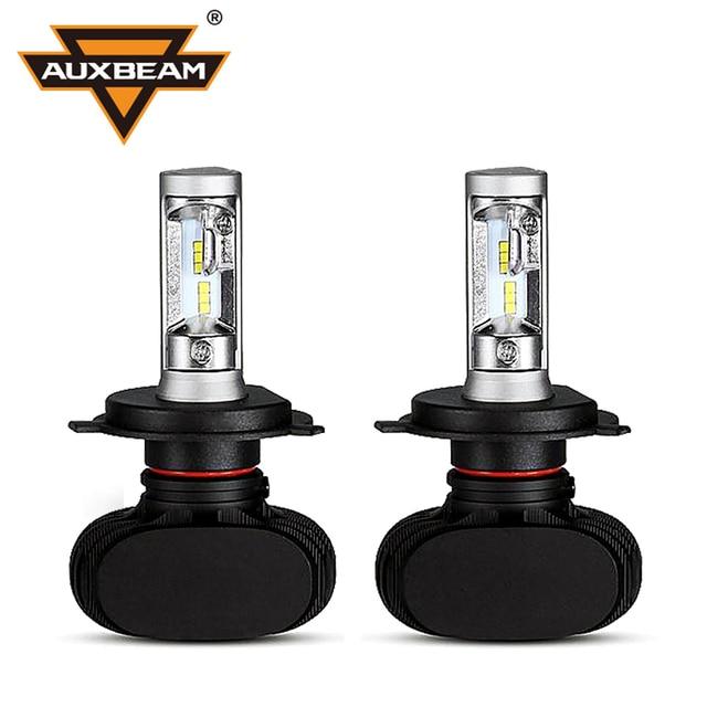 Csp auxbeam cree chips led faro h4 bombillas del coche sin ventilador de alta/luz de cruce 6500 k auto cabeza lámpara para ford/toyota/honda s1 series