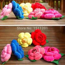 25cm 3D Plush toys rose pillow home sofa cushions Patchwork Flower Cusions Pillow Wedding Party With