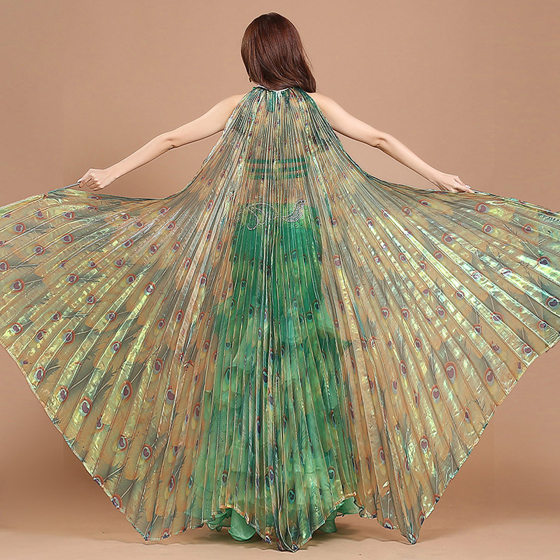 Stage Performance Props Women Dance Accessories Egyptian Transparent Wings Non split Belly Dance Isis Wings Peacock