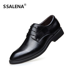 Men Formal Business Lace Up Dress Shoes Male Pointed Toe Fashion Oxfords Shoes Men Leather Luxury Groom Wedding Shoes AA60520