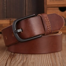 2018 Vintage Mens Belts Luxury disigner strap women High Quality 100% real Genuine Leather girdle brown green Jeans camel coffee(China)