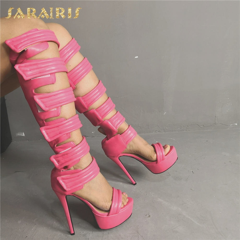 Sarairis Luxury Large Size 47 Customize High Heels Sexy Best Quality Women Shoes Woman Summer Gladiator Sandals Summer BootSarairis Luxury Large Size 47 Customize High Heels Sexy Best Quality Women Shoes Woman Summer Gladiator Sandals Summer Boot