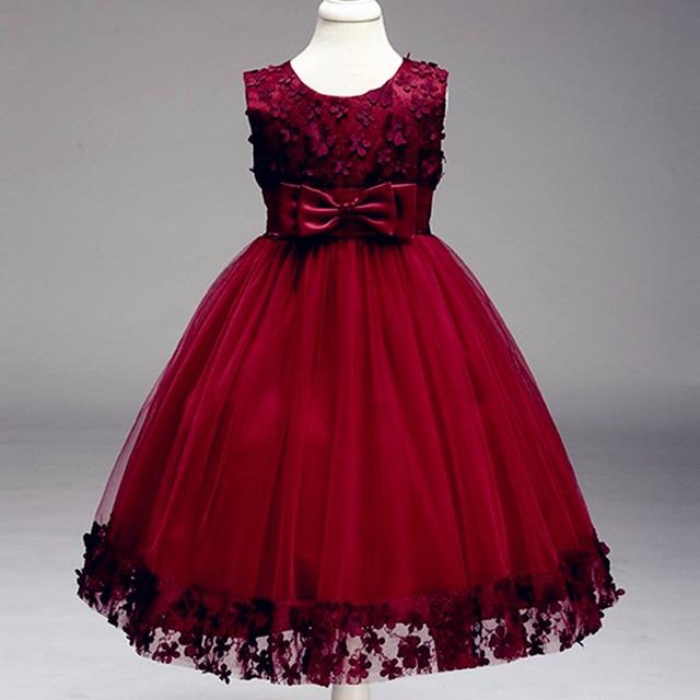 8d0232bb3 Kids Infant Girl Flower Petals Dress Children Bridesmaid Toddler ...
