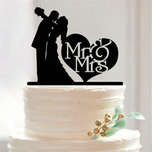 Mr Mrs Acryl Kuchen Topper Benutzerdefinierte Hochzeitstorte