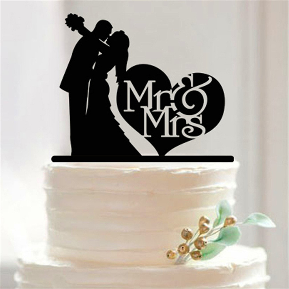 Mr mrs acrylic cake topper custom wedding cake topper for Acrylic decoration
