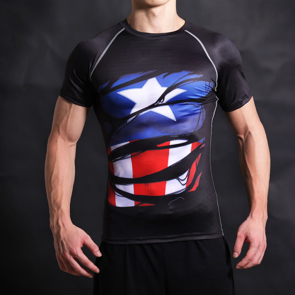 Captain America Civil War Shirt Tee 3D Printed T-shirts Men Fitness jogges Clothing Male Tops Funny T Shirt Superman Costume