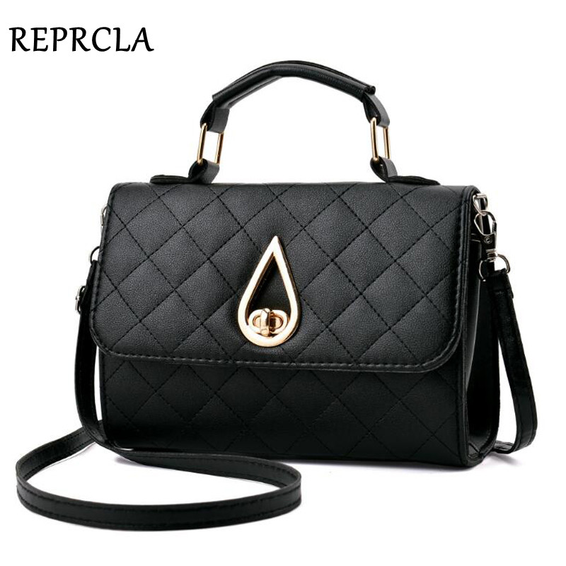 REPRCLA Brand Fashion Small Shoulder Bag Plaid PU Leather Women Messenger Bags Crossbody Designer Handbags Top-handle Women Bag zmqn women shoulder bag candy colors fashion handbags brand small leather crossbody bags for women messenger bag girl zipper 507
