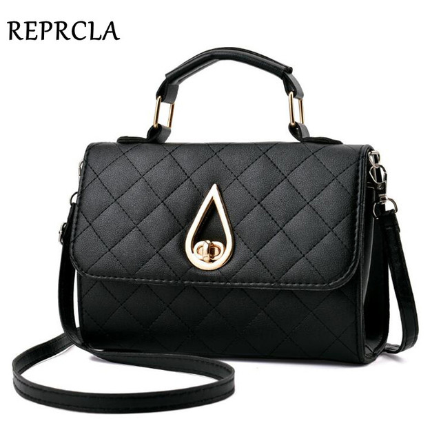 REPRCLA Brand Fashion Small Shoulder Bag Plaid PU Leather Women Messenger  Bags Crossbody Designer Handbags Top-handle Women Bag 287f681e8ba2e