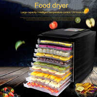 Déshydrateur de nourriture fruits légumes herbe viande séchage Machine collations sèche-linge avec 10 plateaux
