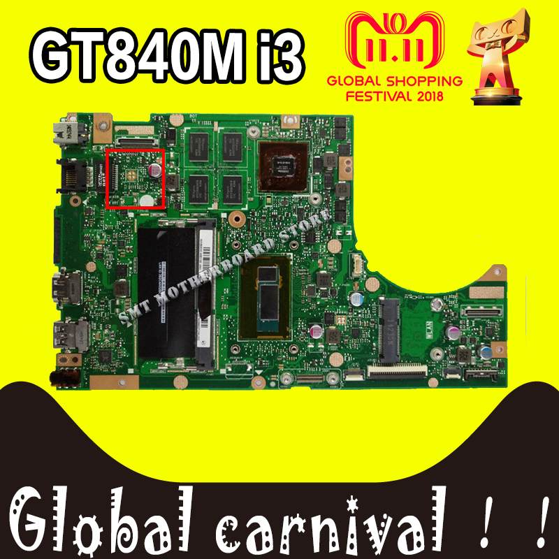 for ASUS TP500LN Laptop motherboard GT840 N15S-GT-S-A2 cpu i3-4030U 4Ppcs video card REV2.0 60NB05X0-MB1420 mainboard 100% test for asus s551lb s551ln s551la r553l mainboard motherboard non integrated gt840m 2gb n15s gt s a2 with i7 4500 cpu sr16z tested