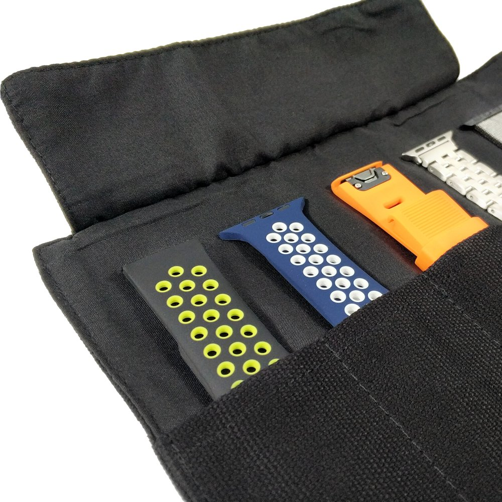 YOOSIDE Smart Watch Band Protable Storage Bag Case Pouch Organizer for Apple Watchbands/Garmin Watch Band/Samsung Watch Band