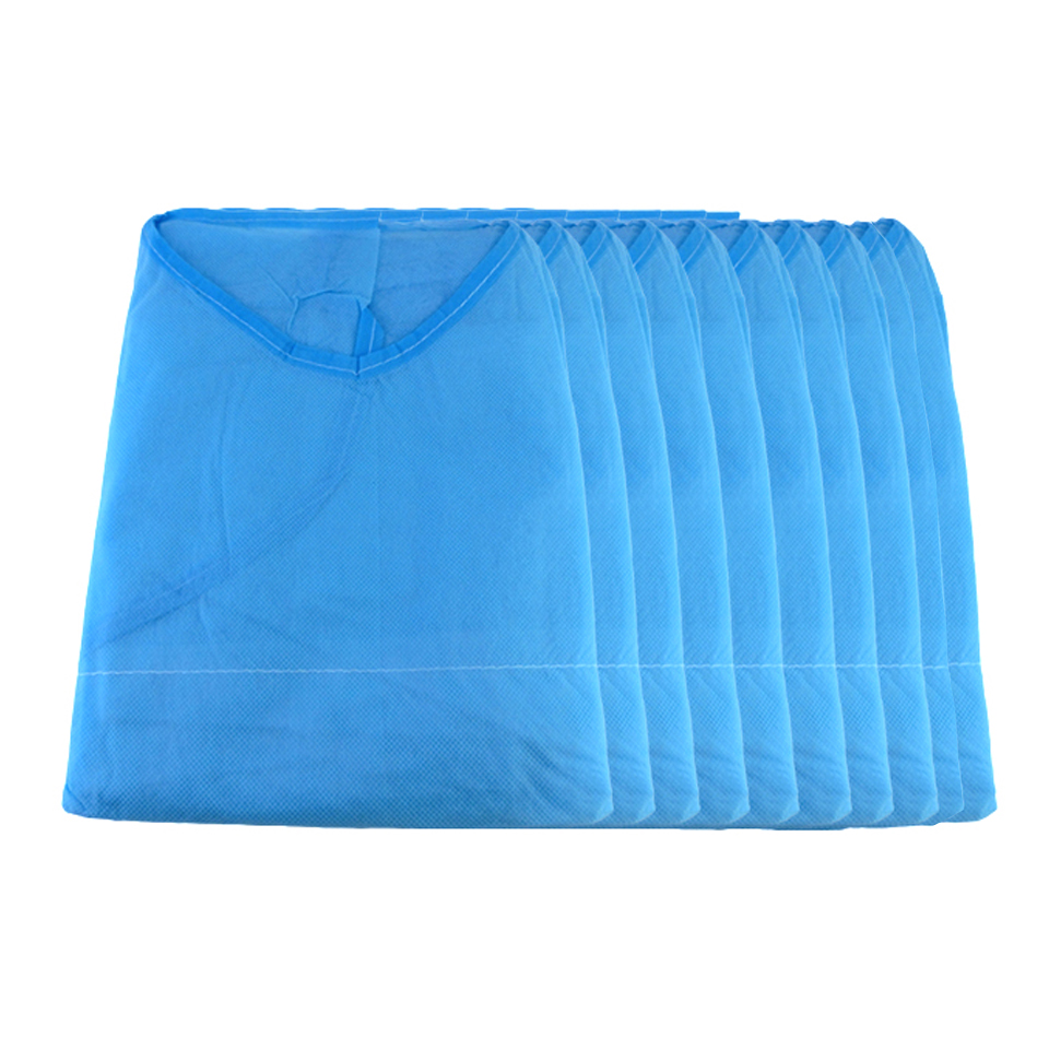 Image 4 - 10pcs/lot Disposable Aseptic Surgical Non Woven Gown Dust Operation Coat Clothes Clothing Hats Caps Tattoo Makeup AccessoryTattoo accesories   -