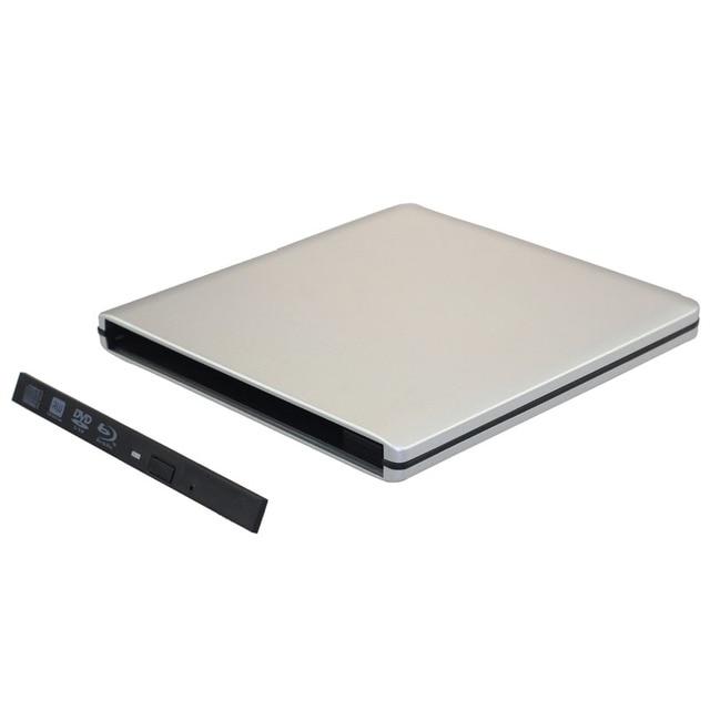 USB 3.0 External Slim Case For 9.5mm Height SATA CD DVD-Rom DVD RW Blu-ray Drive