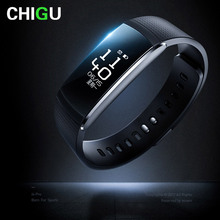CHIGU A6p Activity Tracker Smart Bracelet Heart Rate Monitoring Band Multi-Sports Management Fitness Wrist watch Push Message