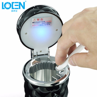 Universal Car Ashtray LED Lights Seat Cover Drink Buckets Car Styling Cigarette Bucket For Office Home