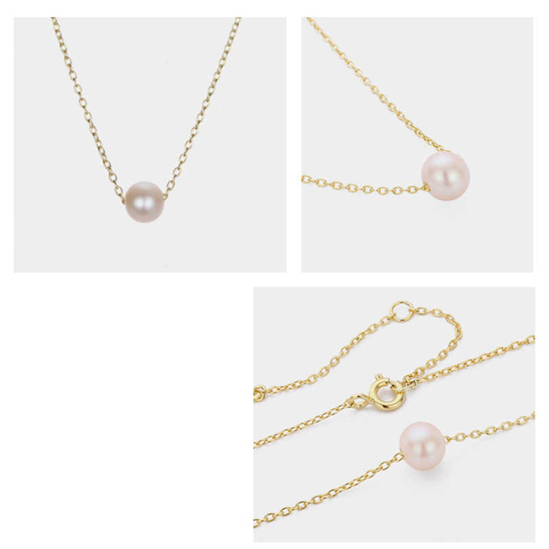 Korean Fashion Classic Pop Stainless Steel Necklace Imitation Pearl Pendant Ladies Necklace Jewelry Necklace Jewelry 2019