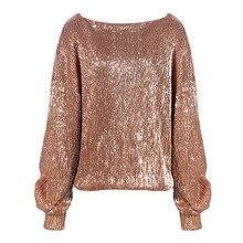 Осень стиль Мода Вышивка блесток крышка с длинным рукавом Женская милая одежда для отдыха