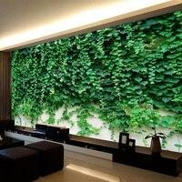 Custom Cualquier Tamaño 3D Murales de Pared Papel Tapiz Verde Hojas de Vid Tigre Mural No tejido de La Pared de Fondo Decoración de La Pared de Escalada Rollos de papel