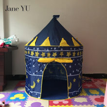 JaneYU 105*135*80cm Children Tent Baby Toy Play Game House Kids Princess Prince Castle Indoor Outdoor Toys Tents Mosquito Net цена 2017