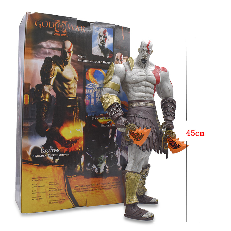 45cm NECA Games God of War Action Figure Ghost Sparta Kratos PVC Figures Ultimate Edition Cartoon Collectible Model Hot Toys
