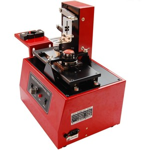 Image 2 - 2020 デスクトップ電気パッドプリンター機印刷機製品日付、小さなロゴ印刷 + 3 クリシェプレート + ゴムパッド
