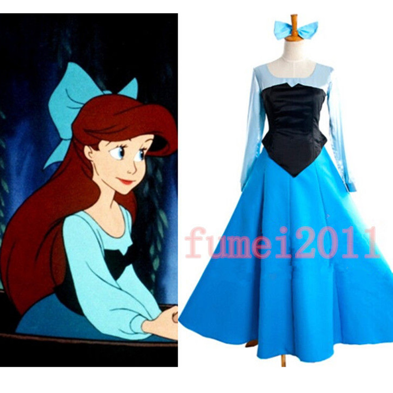 Aliexpresscom Buy Ariel Mermaid Dress Cosplay Classic  sc 1 st  Meningrey & The Little Mermaid Costume Dress - Meningrey