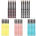 5pcs/set Portable Retractable Lip Brush Eyeliner Brush Eyebrow Eyeshadow Makeup Cosmetic Lipstick Brush