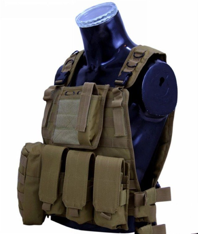 Outdoor multi-functional amphibious module vest MOLLE system tactical vest CS field protection equipment vest