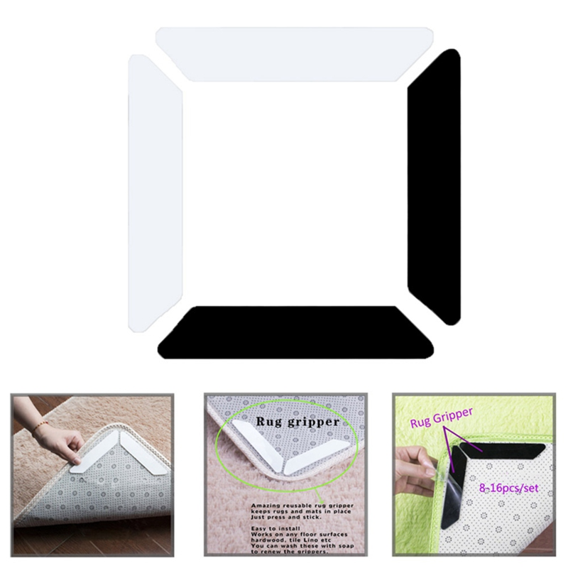 Household Mattress Patch Blanket Sticker Grip Skid Carpet Pad Rug Non-slip Patch Grippers Reusable Washable Useful Creative Mat