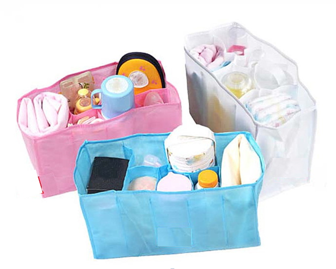 Bag Organizer Nappy-Bags Diaper Changing-Divider Water-Bottle-Storage Travel Baby Portable